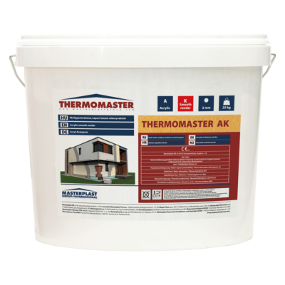 THERMOMASTER akril vékonyvakolat, kapart hatású 2 mm / 25kg (vödör)