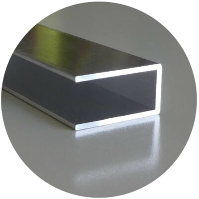 Alumínium végzáró U profil 25*3000 mm