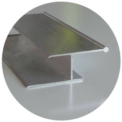 Alumínium falcsatlakozó profil alsó 50*22*55*3000 mm