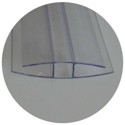 Polikarbonát toldó H profil - Víztiszta 10*4000 mm