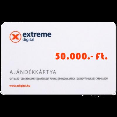 Ajándékutalvány - 50.000.- ft.