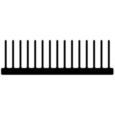 Alumínium hűtőborda profil, AlMgSi0,5/F22/111,13*32,77/ méter