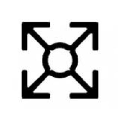 Alumínium installációs profil, AlMgSi0,5/F22/30*30*2 (szál, 6m.)