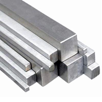 Alumínium négyzetrúd, 6082 T6/20 (szál, 6m.)