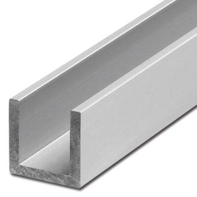 """Alumínium """"U"""" profil, AlMgSi0,5/F22/20*40*20*3 (szál, 6m.)"""