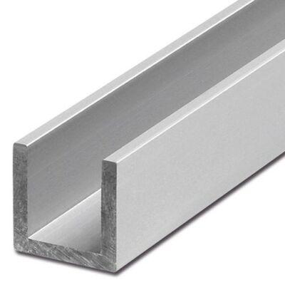 """Alumínium """"U"""" profil, AlMgSi0,5/F22/40*80*40*3 (szál, 6m.)"""