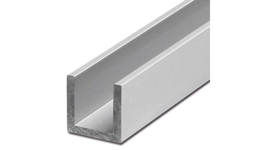 0,5 mtr. B/&T Metall Aluminium U Profil 25 x 25 x 3 mm aus AlMgSi0,5 F22 schweissbar eloxierf/ähig L/änge ca 500 mm +0//- 3 mm